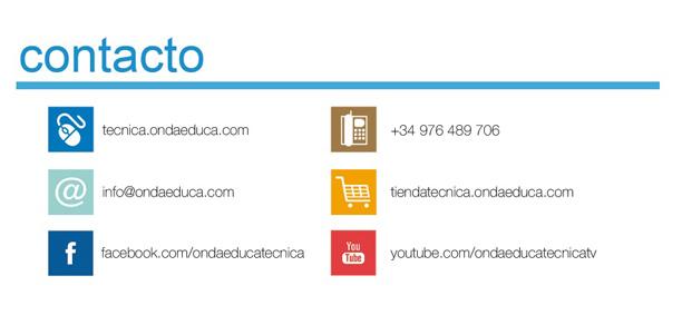 Contacto Onda Educa: Tlf. 976 489 706, email: info@ondaeduca.com